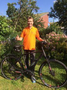 Helge und sein Bike